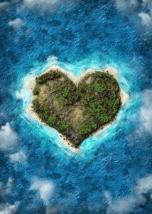 Heart Island Beach Nature Vacation  - line2art / Pixabay